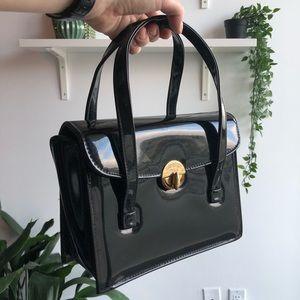 🦎BOGO VINTAGE patent handbag
